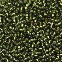 Toho 15/0 Seed Beads Silver Lined Olive 37 - 5 grams